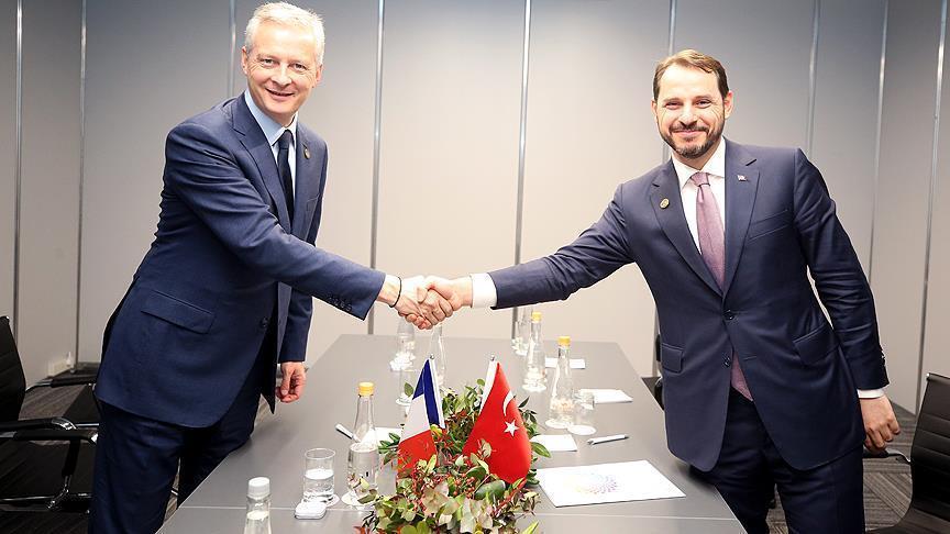 وزيرا المالية التركي والفرنسي يقرران التحرك سويًا ضد إجراءات واشنطن