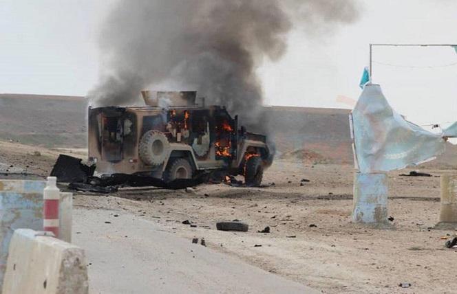 مفخخة تقتل وتجرح 8 عناصر من