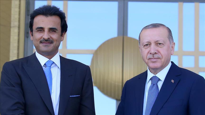 أردوغان يشكر قطر أميرا وشعبا لوقوفهم إلى جانب تركيا
